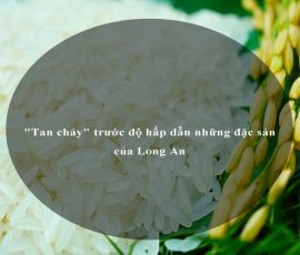 """""""Tan chảy"""" trước độ hấp dẫn những đặc sản của Long An"""